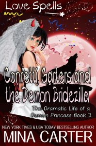 Book Cover: Confetti, Garters, and the Demon Bridezilla